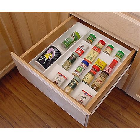 spice drawer organizer drawer organizer spice rack bed bath beyond
