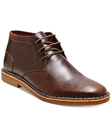 steve madden harken chukka boots  dark brown brown  men lyst