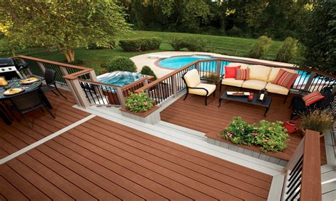 pool patios ideas above ground pool with deck and patio