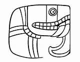 Maya Coloring Script Mayan Calendar Dibujo Coloringcrew Colorear Template sketch template