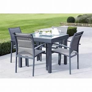 Table De Jardin Avec Rallonge : wilsa garden salon de jardin gris modulo en aluminium et ~ Farleysfitness.com Idées de Décoration