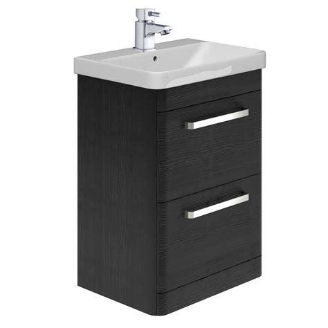 esk floor standing  vanity unit basin black easy
