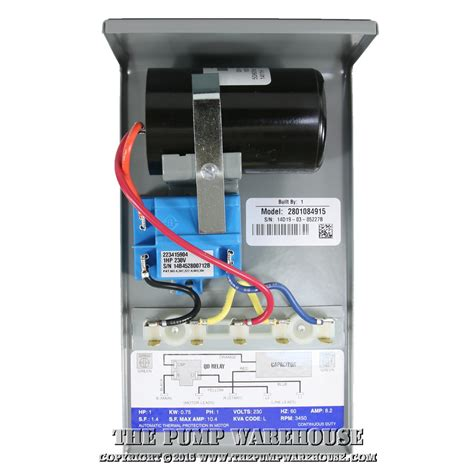 Water Wiring Diagram 230v by Franklin Qd Box 1 Hp 230v