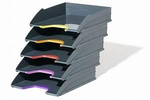 Banette De Rangement : corbeille courrier 5 tages bac de classement rangement de bureau ~ Teatrodelosmanantiales.com Idées de Décoration