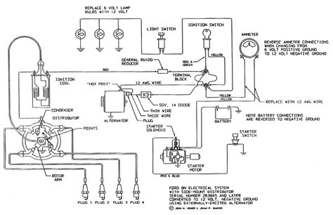 1952 Ford Tractor Wiring Diagram by Electrical Schematic For 12 V Ford Tractor 8n