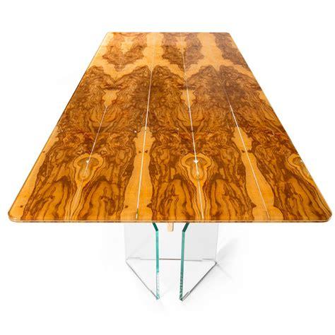 Tisch Aus Olivenholz by Rechteckiger Tisch Aus Olivenbaumholz Und Glas Portofino