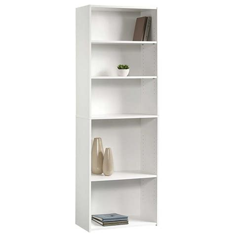 sauder beginnings soft white open bookcase 415542 the