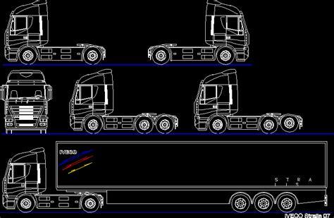 truck tractors  semi  autocad  cad