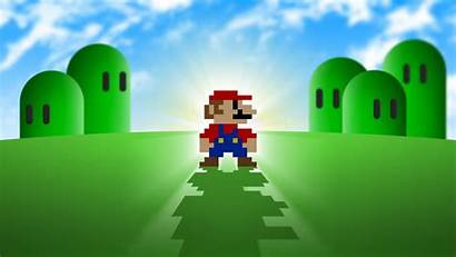 Mario Backgrounds Cool Super Bros Pixelated Wallpapertag