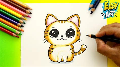como dibujar  gato kawaii   draw cute cat dibujos kawai gatito easy art youtube