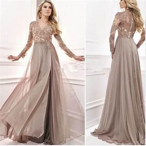 robe de soiree lace appliques beaded long sleeves evening With mim robe de soirée