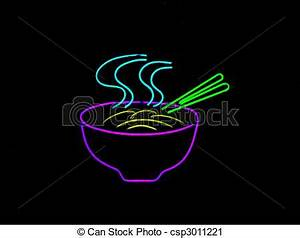 Clipart of Neon Chinese Noodle Sign Neon sign often