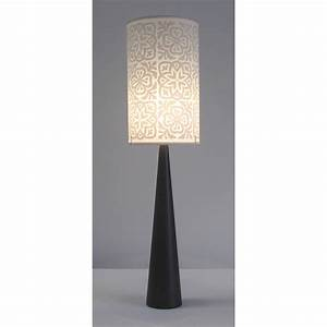 moroccan tile long drum lampshade by helen rawlinson With floor lamp with long shade