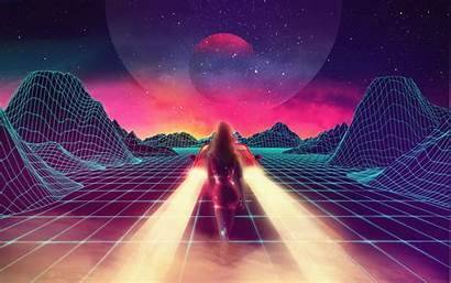 Retro Neon Synthwave Wallpapers Wave 1980s Games