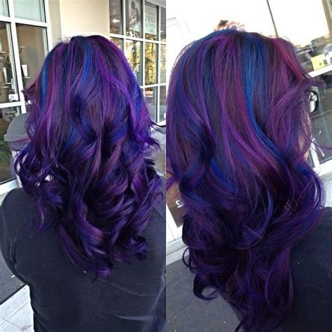 Purple To Blue Hair Colors Ideas