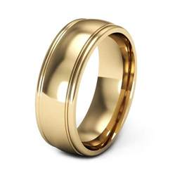 yellow gold wedding bands yellow gold wedding rings for with grove edges ipunya