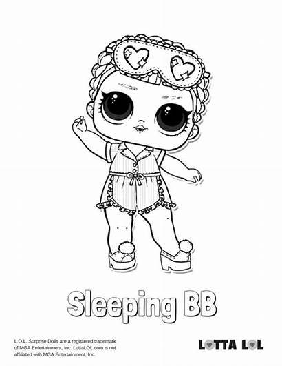 Lol Coloring Pages Bb Sleeping Surprise Colouring