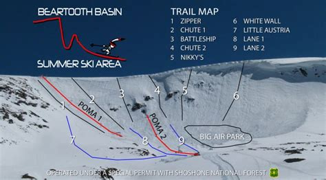 Alpine Boat Basin Trail Map by Montana Summer Ski Resort Opens This Month