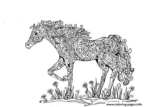 print adults difficult animals horse printable hd coloring