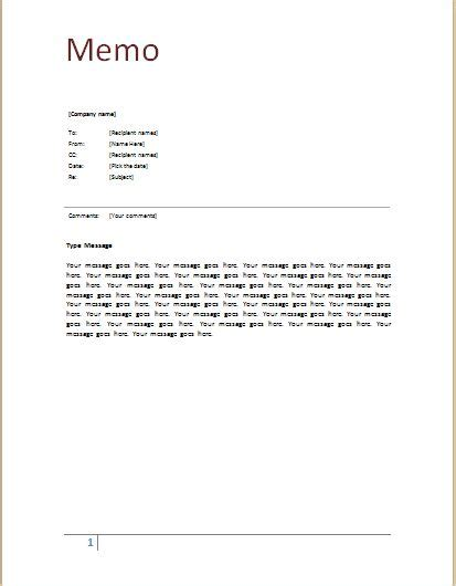 Memo Template by Memo Template At Word Documents Microsoft Templates
