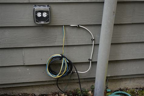 Exterior Cable Tv Wiring Box by New Home What Are These Blue And Yellow Cables Coming