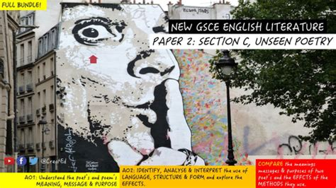 Aqa Gcse English Literature New Specification Unseen Poetry Structure Lesson By  Uk Teaching