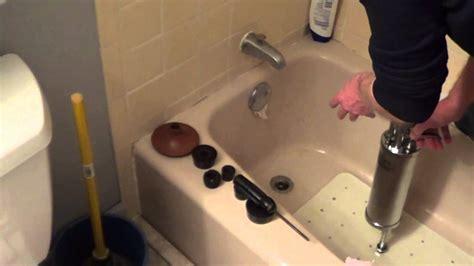 unclog  shower drain   unlcog  bathtub