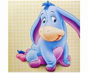Tableau Toile Disney Winnie l'ourson Bourriquet Bébé 25x25cm 2987