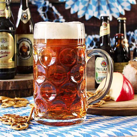 German Beer Stein Glass 2 Pint / 1.4 ltr