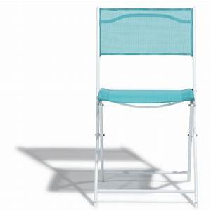 Chaise Pliante Camping Gifi : perfect chaise pliante blanche et bleue gifix with table picnic pliante gifi ~ Melissatoandfro.com Idées de Décoration