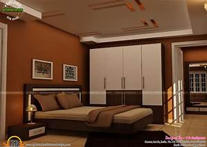 master bedrooms interior decor kerala home design and With interior design normal house