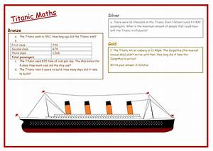Titanic Word Problems Based On Real Facts Ks2 3  4 Digits