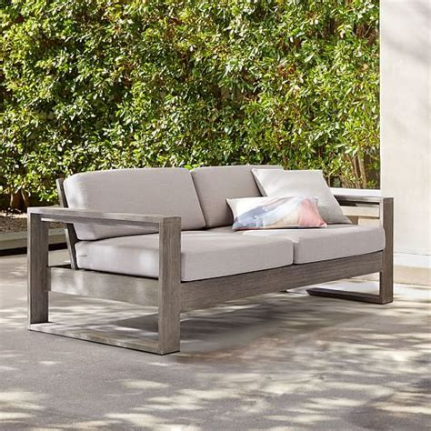 portside sofa gray  west elm   outdoor sofa