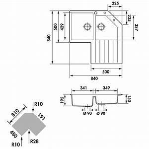 Meuble Evier D Angle : vier d angle en granit schock lokti 2 bacs 1 gouttoir ~ Premium-room.com Idées de Décoration