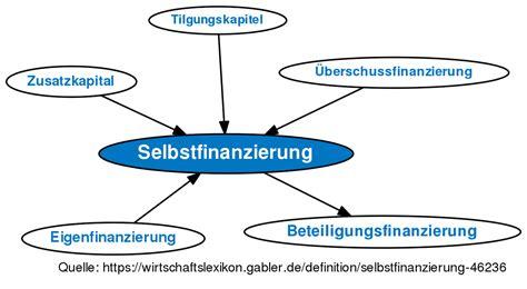 selbstfinanzierung definition gabler wirtschaftslexikon