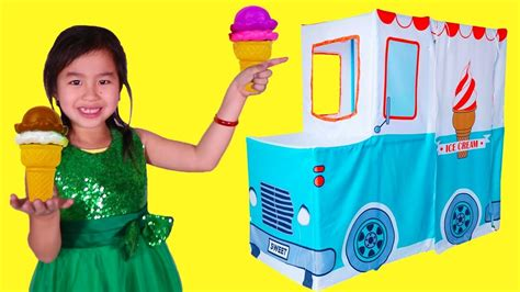 Jannie Ice Cream Truck Pretend Play With Ice Cream Singa