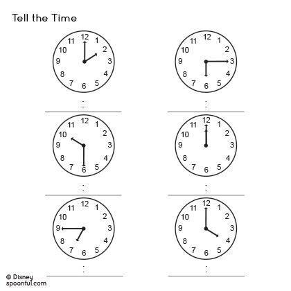 ideas about telling time in worksheets free