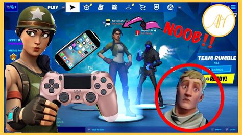 time playing fortnite  controller  mobile