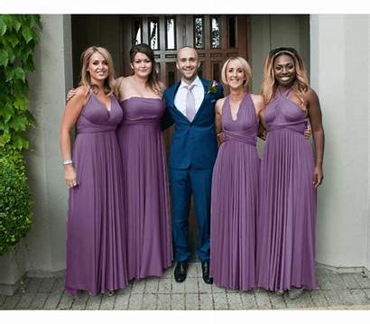 Infinity Bridesmaid Purple Convertible Royal Midnight Jumpsuit