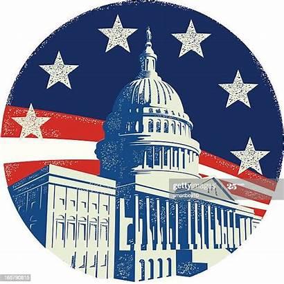 Capitol Washington Building Dc Congress Vector Illustrations