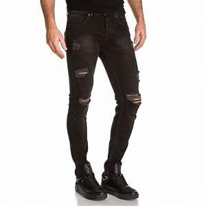 Jean Slim Noir Homme : jeans jean slim noir homme destroy blz jeans ~ Voncanada.com Idées de Décoration