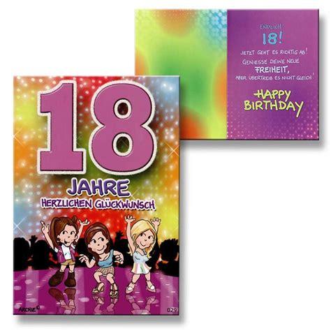 18 geburtstag mädchen archie geburtstagskarte zum 18 geburtstag junge m 228 dchen lila gl 252 ckwunschkarte k ebay