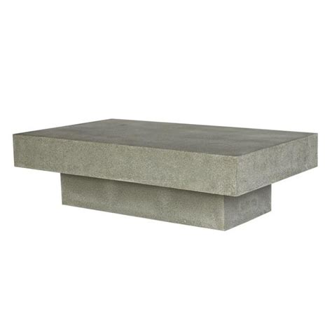 Cabo Rectangular Concrete Coffee Table ? insideout