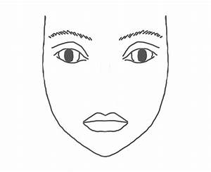 Printable Makeup Face Coloring Pages