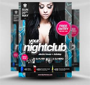 30 amazing free flyer templates from flyerheroescom extras With free nightclub flyer design templates