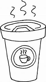 Coffee Coloring Cup Pages Latte Printable Clipart Clip Drawing Cups Mug Colouring Cliparts Library Mugs Getcoloringpages Line Getcolorings Getdrawings 20clipart sketch template