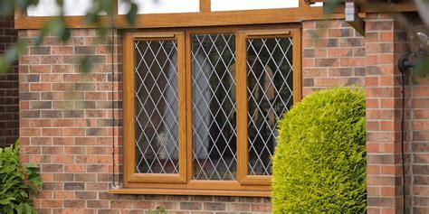 diamond leaded oak upvc windows composite door  pennine