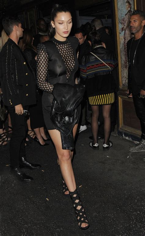 Bella Hadid See Through 3 Photos Thefappening