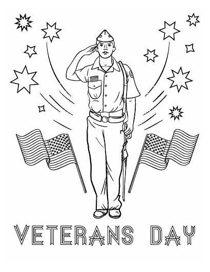 Veterans Coloring Pages Sheets Printable Veteran Memorial