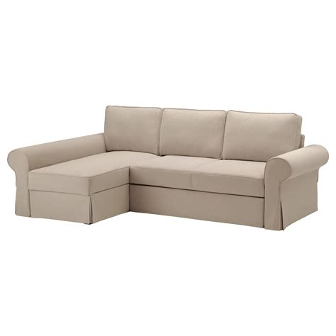 ikéa chaise backabro sofa bed with chaise longue hylte beige ikea